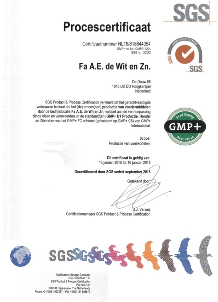 Certification Fa Ae De Wit Zn